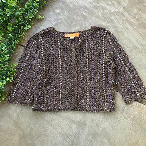 Cynthia Steffe • Crop Knit Braided Cardigan